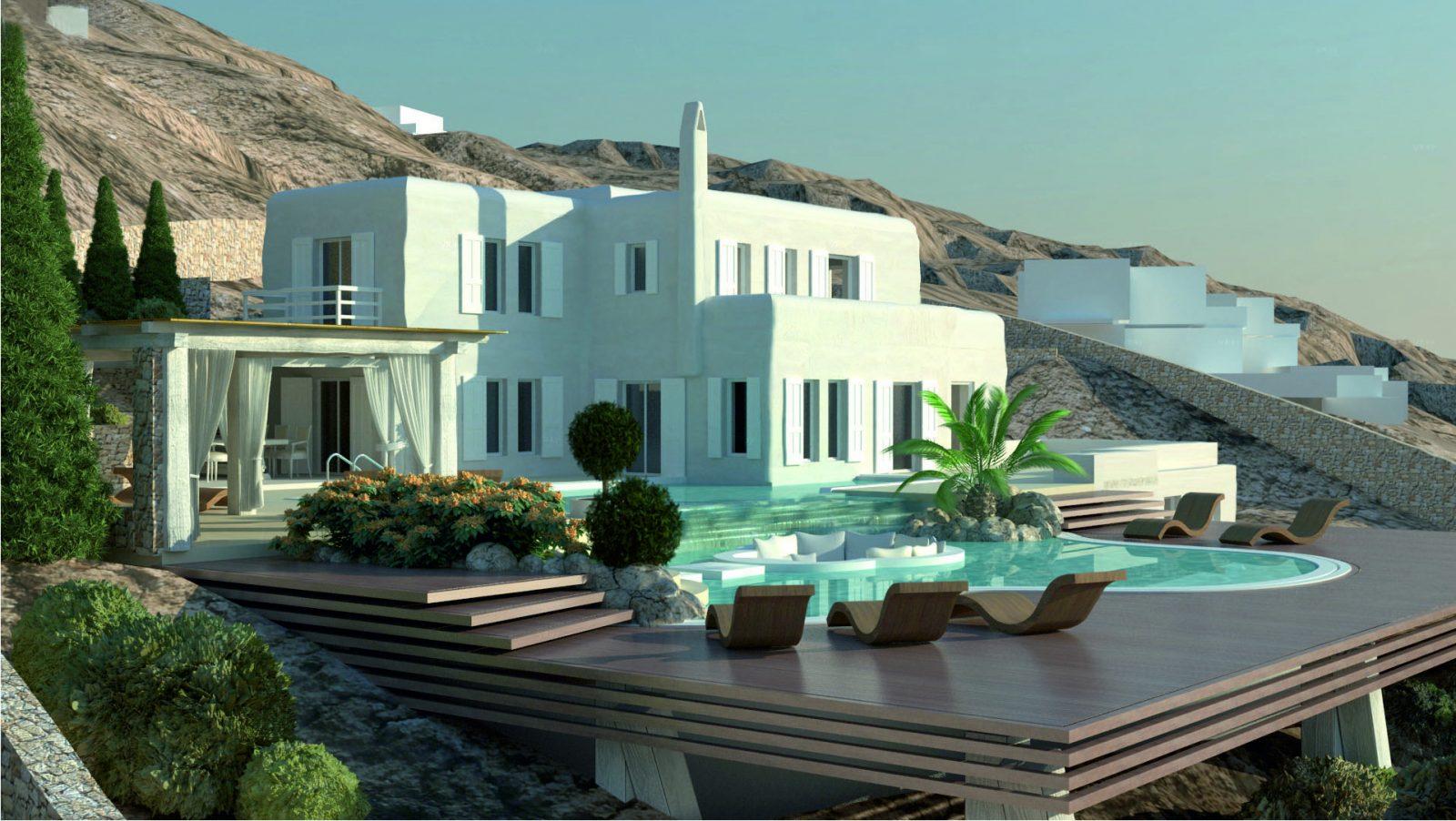 9 Villas in Mykonos - GK Decoration - Design & Construction